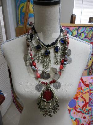 "Antique Indian Pendent ""ART JEWELRY""by Christina Jarmolinski"
