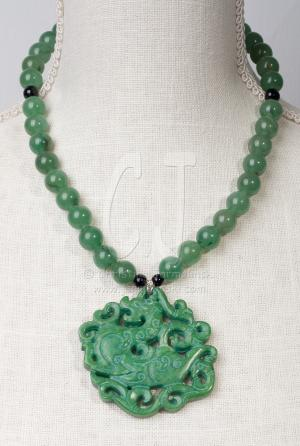 "Green Jade Dragon ""Art Jewelry"" by Christina Jarmolinski"