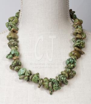 Green turquoise- organic natural color by Christina Jarmolinski