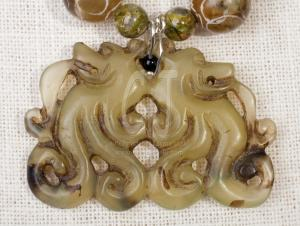 Green Jade Handcarved Pendant