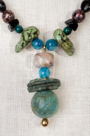 Turquoise and Antique Coins by Christina Jarmolinski