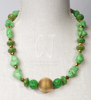 Spring is Here in green Turquoise by Christina Jarmolinski