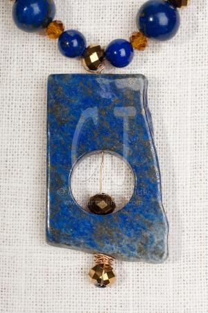 Royal Afghanistan Lapis Lazuli Pendant Necklace by Christina Jarmolinski