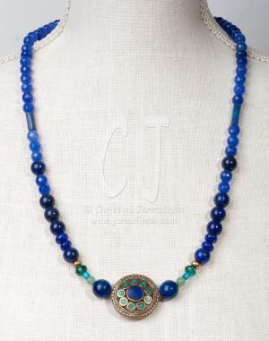 Vintage Inlay Lapis Lazuli and Turquoise
