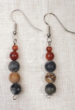 earrings to Signature Piece Landscape Agate Pendant by Christina Jarmolinski