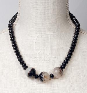 Black and White Agate Sophistication -  Chocker by Christina Jarmolinski