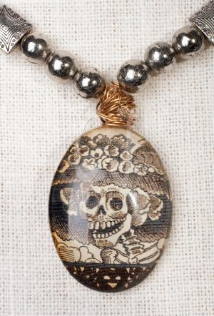 Dia de Muertos Pendant necklace by Christina Jarmolinski