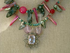 "Iolite Pendant and facetted Beads ""ART JEWELRY""by Christina Jarmolinski"