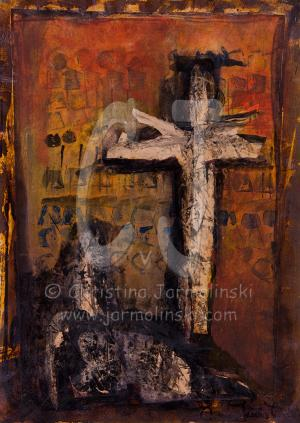 Crying Women under the Cross by Christina Jarmolinski