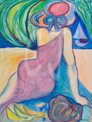Lady with Sunhat by Christina Jarmolinski