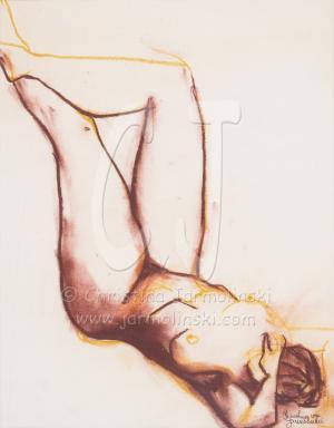Sepia Drawing by Christina Jarmolinski