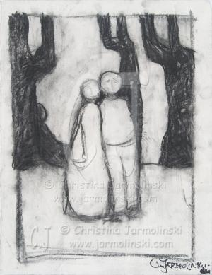 Couple in the Forest by Christina Jarmolinski