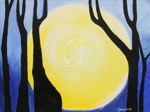 Trees in Moon Glow by Christina Jarmolinski