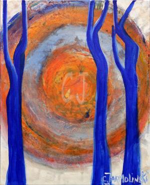 The Silence of the Rising Sun II- Zen Art by Christina Jarmolinski