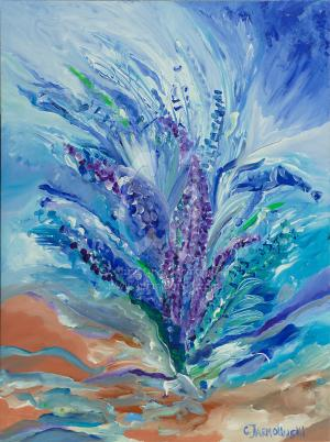 Larkspur in the Dunes by Christina Jarmolinski