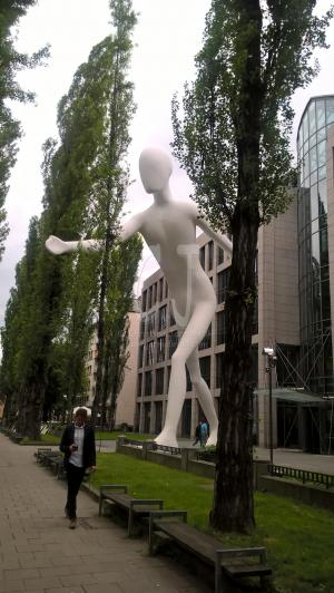 The Walking Man in the Artist Section of Munich, Schwabing