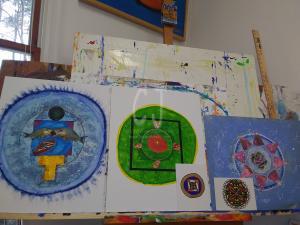small Mandalas made to begin creating larger formats
