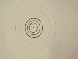 The beginning of a Mandala- Zen Art  by Christina Jarmolinski