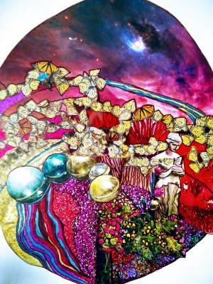 The Butterfly Planet -  Zen Art by Christina Jarmolinski