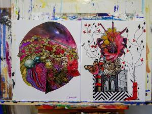 Butterfly Planet and Joy - Zen Art by Christina Jarmolinski