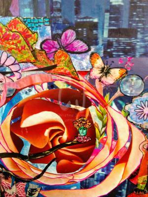 Out on a Limb - Detail -Zen Art by Christina Jarmolinski