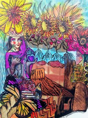 The Tale of a Beduoin Princess - Zen Art by Christina Jarmolinski