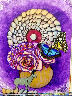 Mystic Mandala  Zen Art  by Christina Jarmolinski