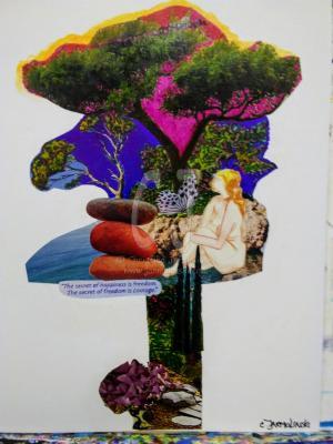 The Secret of Happiness is Freedom - Zen Art by Christina Jarmolinski