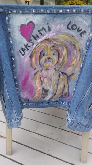 Jeans Jacket with Lakshmi