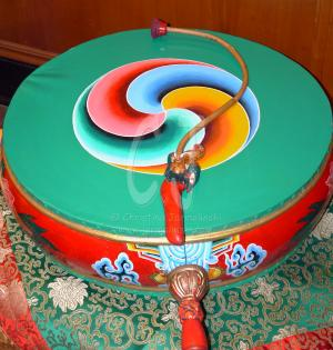 Tibetan Ceremony Dumara Hand Drum Photo By Christina Jarmolinski