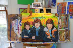 The making of a Family Portrait at the Keukenhof, Holland by Christina Jarmolinski