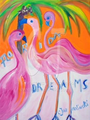 Flamingos by Christina Jarmolinski