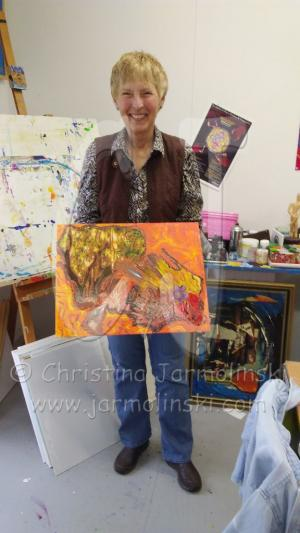 During the last workshop at Christina Jarmolinski's studio