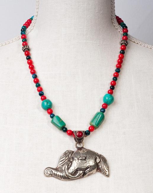 Elefant in Ornate Handcrafted Silver by Christina Jarmolinski