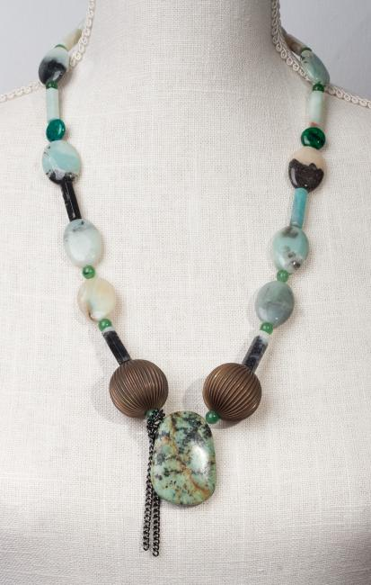 "Amazonite Necklace ""ART JEWELRY"" by Christina Jarmolinski"