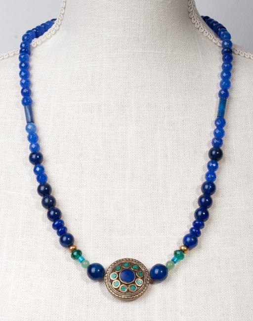 Vintage Inlay Lapis Lazuli and Turquoise