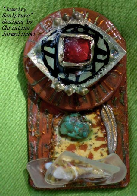 "Jewelry Sculpture- Antique Little Secrets""ART JEWELRY""by Christina Jarmolinski"