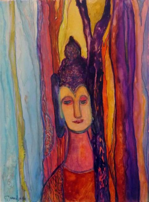 Buddha in the Forest by Christina Jarmolinski