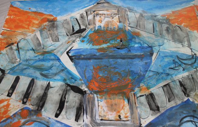 Reflection of Rialto Bridge by Christina Jarmolinski