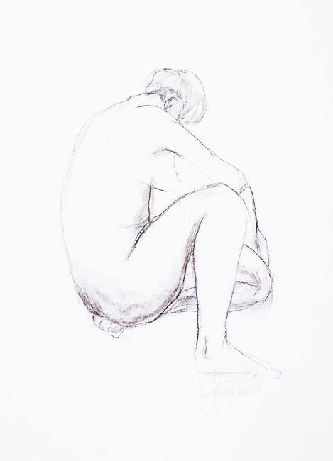 """Sitting Nude III"" by Christina Jarmolinski"