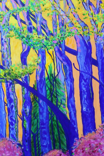Forest in the Sunlight in the Spring by Christina Jarmolinski