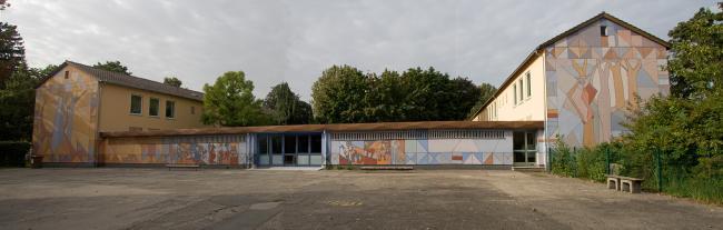 Mural on the primary school in Augsburg Goeggingen, Germany © Christina Jarmolinski