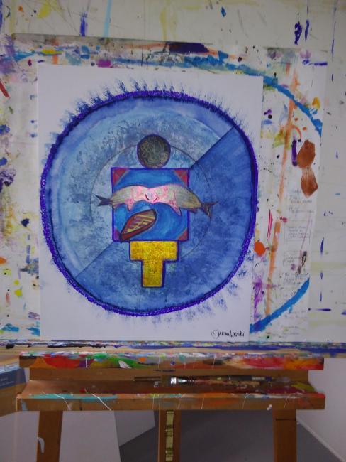 The Journey Mandala - Zen Art by Christina Jarmolinski