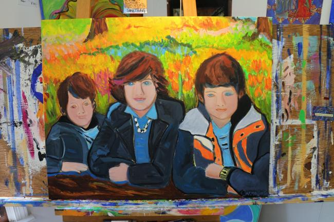 Family Portrait at the Keukenhof, Holland © Christina Jarmolinski
