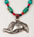 Good Luck Tibetan Elefant in Ornate Handcrafted Silver
