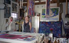 Visitors in My Studio in Ft. Myers, FL. © Christina Jarmolinski