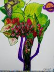 The Tulip Tree - Zen Art by Christina Jarmolinski