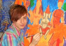 One of my students of many years, Philipp, who graduated and has his Art Masters