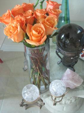 Orange Roses and Crystal Balls by Christina Jarmolinski