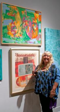 Opening Evening at Rauschenberg Gallery in Edison College July 13, 2012